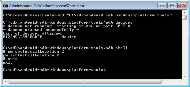 Command prompt commands on Windows